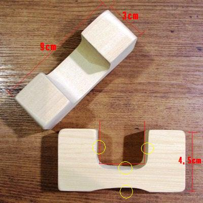 青森ヒバの厚いまな板は、ヒバ材のまな板立てに収納下さい